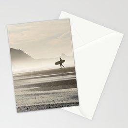 Surfer at Sunrise Stationery Cards