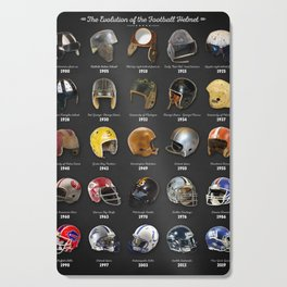 The Evolution Of The Football Helmet Cutting Board
