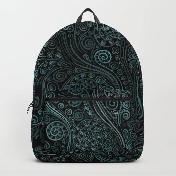 Teal ornaments Backpack