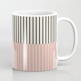 Color Block Lines XIV Vintage Pink Coffee Mug