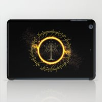gondor iPad Cases featuring Lord Of The Ring Circle by Electra