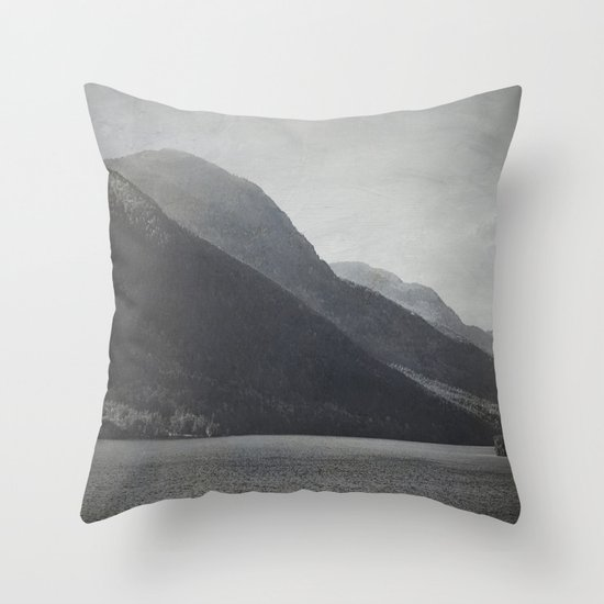 In the Shadows of Mountains Throw Pillow
