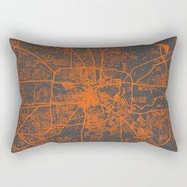 Houston map orange Rectangular Pillow