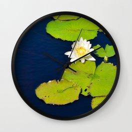 Dark Blue Pond by Teresa Thompson Wall Clock