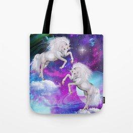 space unicorns v Tote Bag