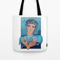 heymonster Tote Bags featuring Bashir by heymonster
