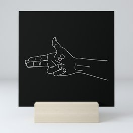 Guns for hands Mini Art Print