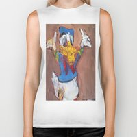 donald duck Biker Tanks featuring Donald Duck diddy by Larry Caveney