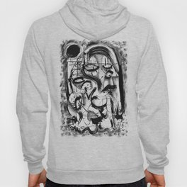 The Witch and Her Sons- b&w Hoody