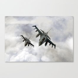 F16 Fighting Falcons Canvas Print