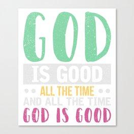 Gott Inspiration T-Shirt Canvas Print