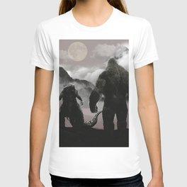 Godzilla Vs Kong At The Mountains T-shirt