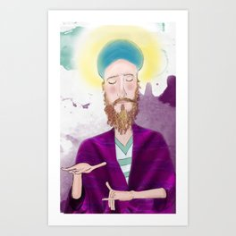 Meditation for the Aura Art Print