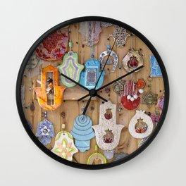 Hamsa lucky charms Wall Clock