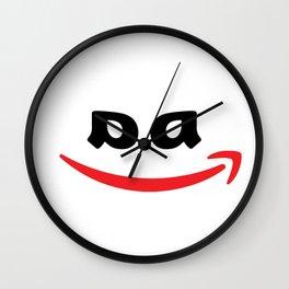 Corporate Evil - Black, No Ears Wall Clock