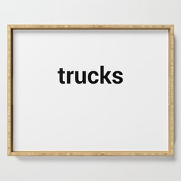 trucks Serving Tray