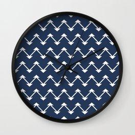 Jute in Navy Blue Wall Clock