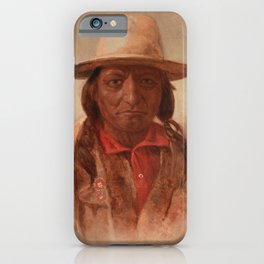 Sitting Bull Painting, Julian Scott iPhone Case