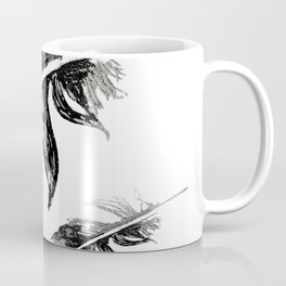 FEATHERS IN BLACK WHITE AND GRAY Coffee Mug
