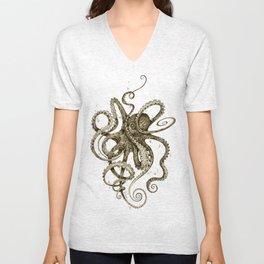 Octopsychedelia Sepia Unisex V-Neck