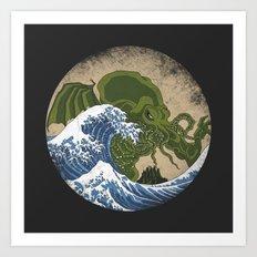 Hokusai Cthulhu Art Print