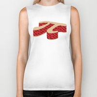 pi Biker Tanks featuring Pi Pie by Rryan