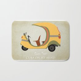 Coco Taxi - Cuba in my mind Bath Mat