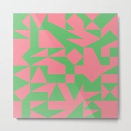 English Square (Pink & Green) Metal Print
