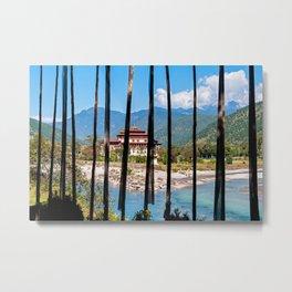 Bhutan: Punakha Dzong Metal Print