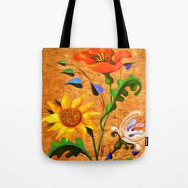 Vertical bouquet. Flowers. Tote Bag