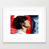 louis tomlinson Framed Art Prints featuring Louis Tomlinson by Manny D