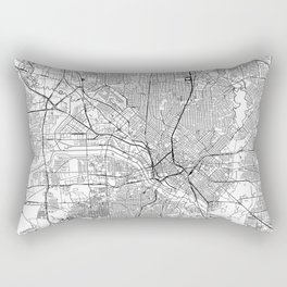Dallas White Map Rectangular Pillow