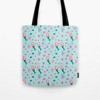 mermaids Tote Bags featuring Mermaids by S. Vaeth