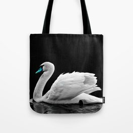Blue Beak Swan Tote Bag