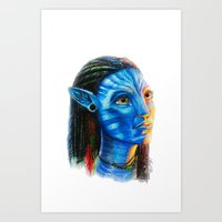 avatar Art Prints featuring Avatar by Aoife Rooney Art