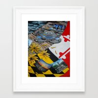 maryland Framed Art Prints featuring Maryland by Demetra Smalls