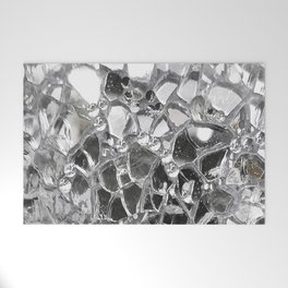 Silver Mirrored Mosaic Welcome Mat