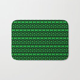 Dividers 02 in Green over Black Bath Mat