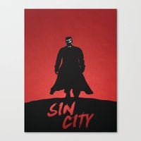 sin city Canvas Prints featuring Sin City by Nick Kemp