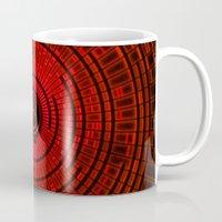 lantern Mugs featuring RED LANTERN by BeautyArtGalery