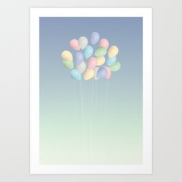 Balloons bouquet Art Print