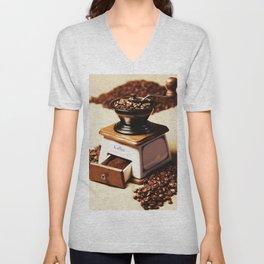 coffee grinder 4 Unisex V-Neck