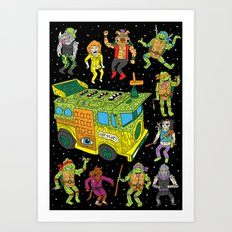 Heroes in a Half Hell Art Print