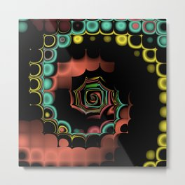 Fall TGS Fractal Abstract Metal Print