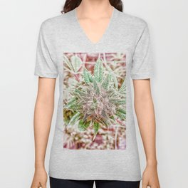 Flower Star Blooming Bud Indoor Hydro Grow Room Top Shelf Unisex V-Neck