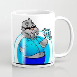 walrus with cup Coffee Mug