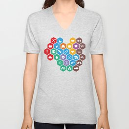 Periodic Table of Beekeeping Unisex V-Neck