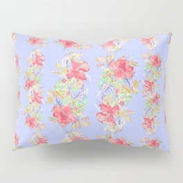 tropical hawaiian flowers periwinkle Pillow Sham