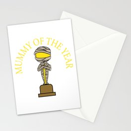 """Mummy Of The Year"" T-shirt Design Spooky Creepy Happy Halloween Scary Ghost October November Stationery Cards"