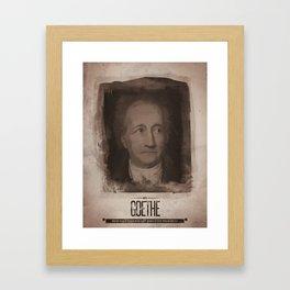 Johann Wolfgang Von Goethe Framed Art Print